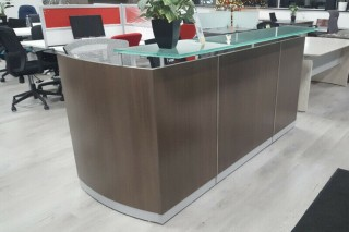 Reception Desk with glass counter top