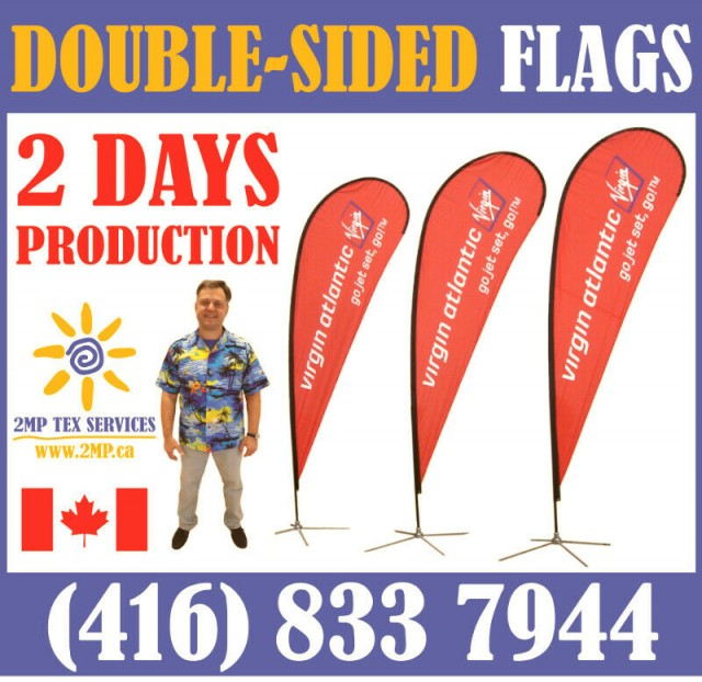 Locally Printed Custom Flags Double Side